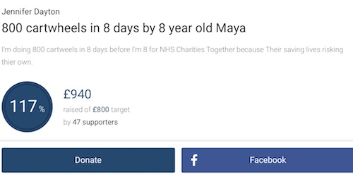 fundraising result of Maya Welch