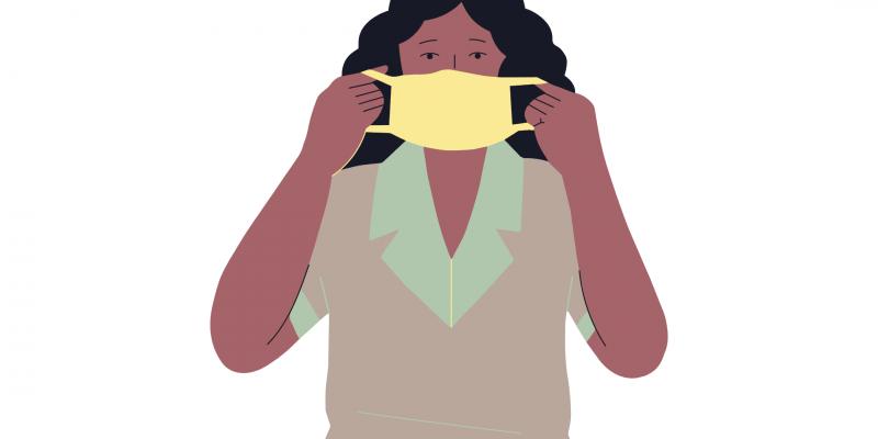 nurse with a facemask