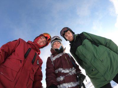 Seasonaires Ollie, Sophie, and Joe in Banff, Canada