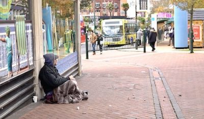 rough sleeper disappeared on the street