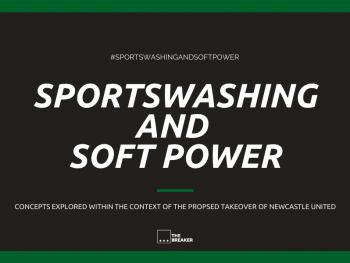 The cover image of radio documentary Sportswashing and Soft Power